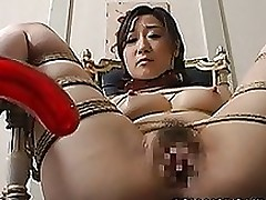 intensive slaving fake penis fuck chinese girl asian bdsm bondage