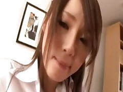 office lady giving oral play riding shlong floor workroom asian