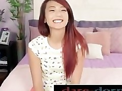 appealing oriental porn teenager youthful japanese redhead schlong sucking throating