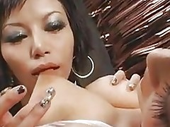babe plays extreme collaborators major boob points part asian boobs