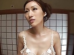 arousing japanese ripe cutie julia foot job tit fuck footjob