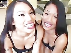 twin sisters girls oriental twins brown hair men plus female