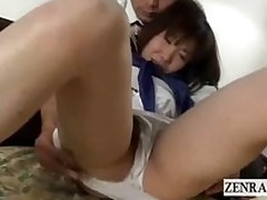 subtitled uncensored japan schoolgirl exposed oral sex blowjob panties fingering