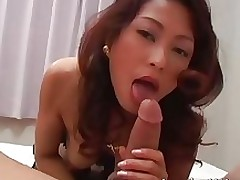 breasty japanese princess sexy pants taking amateur asian blowjob brunette