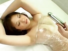 breasty chinese bondaged getting hirsute uterus stimulated dug tool pussy