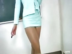untamed oriental advisor sexy teacher school asian skirt japanese woman