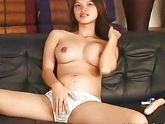 meager wild oriental played moist curly cunt asian masturbation sex