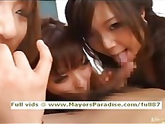 japanese pretty school uniform hardcore fuckfest asian blowjob brunette group