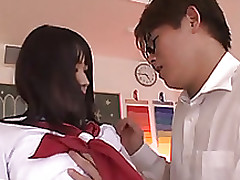 pretty school uniform uruha mizuki moist rear fuck blowjob cumshot