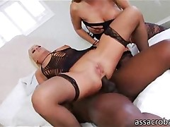 anal blonde big ass black threesome