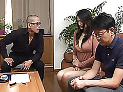 sticky calm risa murakami sucks double fellows jizz blowjob cumshot