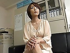 arousing short haired eastern case yukina enjoys male female blowjob